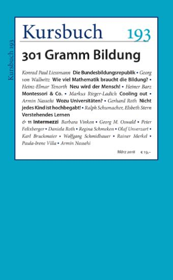 Kursbuch 193, 301 Gramm Bildung, Heiner Barz