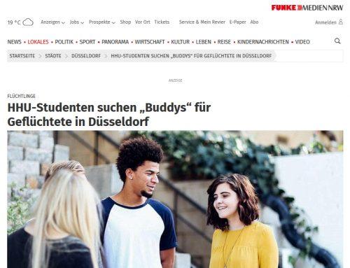 """WAZ Online: HHU-Studenten suchen """"Buddys"""" für Geflüchtete in Düsseldorf"""