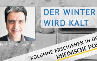 Der Winter wird kalt, Kolumne von Heiner Barz, erschienen in der Rheinischen Post
