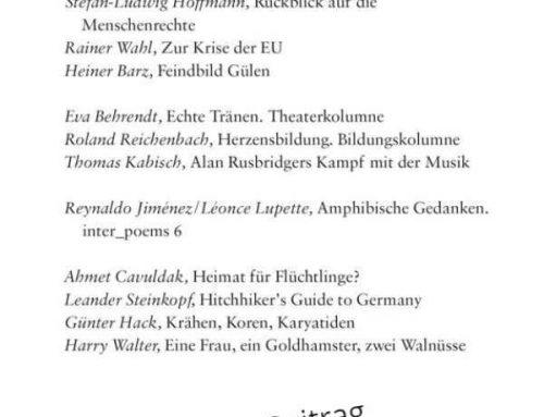 Merkur – Deutsche Zeitschrift für europäisches Denken (2017)