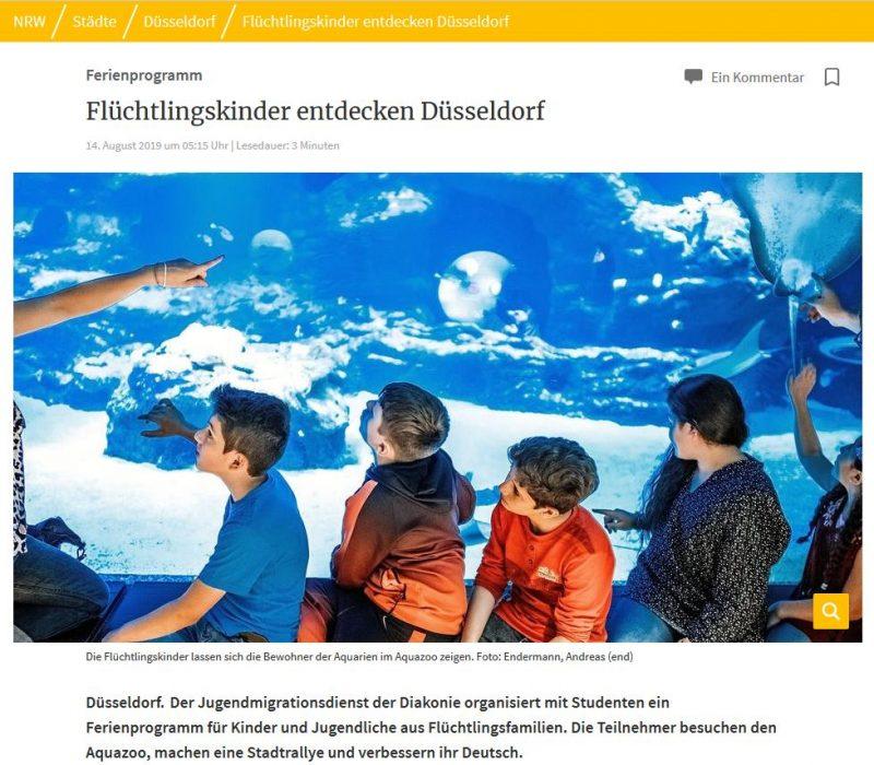Flüchtlingskinder entdecken Düsseldorf